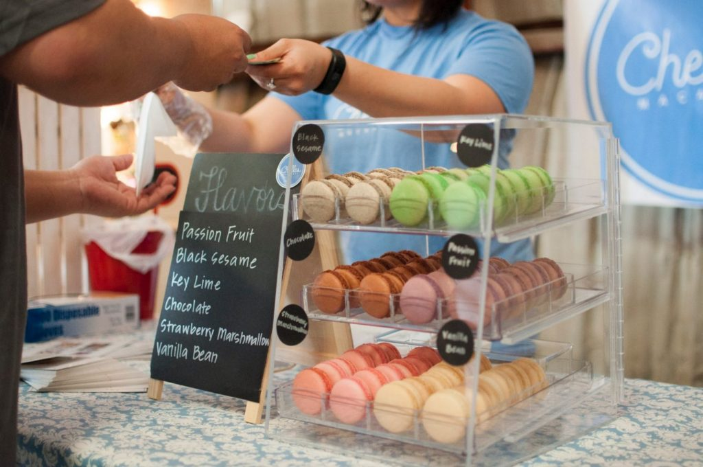 Assorted business desserts display